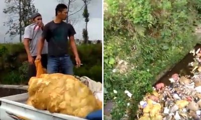 Two Men Caught Dumping Trash Into River, Made to Clean Up River as Punishment - WORLD OF BUZZ