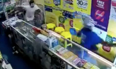 Two Men Rob a Store in Puchong With Plastic Gun, Owner Teaches Them a Lesson - WORLD OF BUZZ