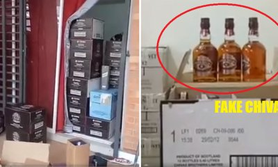 1,942 Boxes of Fake Alcohol Using Used Bottles from Famous Brands Seized at Kajang House - WORLD OF BUZZ 6