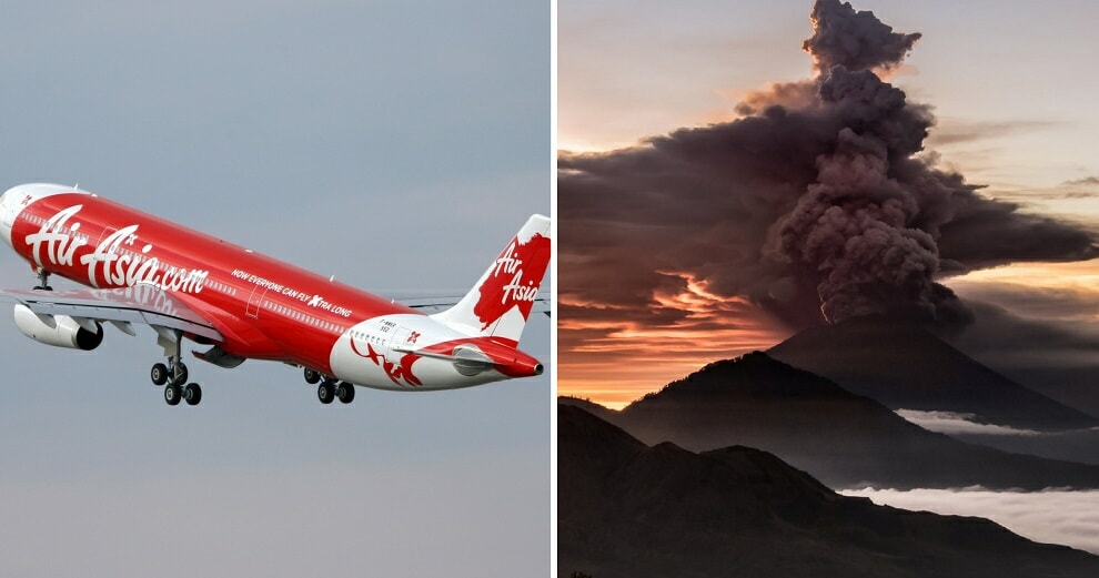 AirAsia and MAS Cancel Flights to Bali After 'Red Alert' Issued for Mount Agung Eruption - WORLD OF BUZZ 3