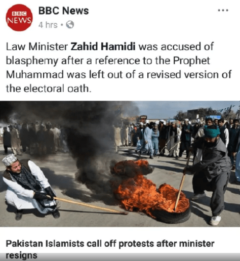 BBC News Accidentally Tags DPM Zahid Hamidi Instead of Pakistani Minister Who Resigned - WORLD OF BUZZ 4
