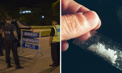 Bukit Aman Policeman Stopped at Roadblock, Gets Arrested for Being High on Meth - WORLD OF BUZZ