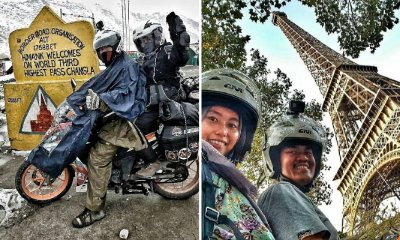 Inspiring M'sian Couple Went on An Epic Trip Riding a Kapcai From Klang to Europe - WORLD OF BUZZ 3