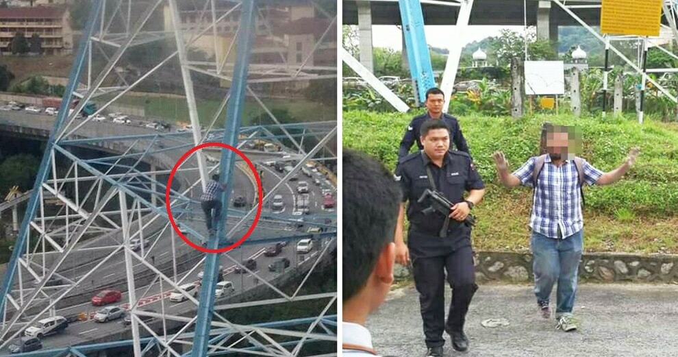 Man Who Climbed Electric Tower Near Menara TM Actually Wanted to Take a Birthday Selfie - WORLD OF BUZZ 9