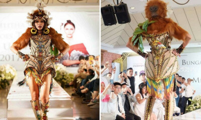 Miss Universe Indonesia Reveals 'Orang Utan' National Costume - WORLD OF BUZZ 4