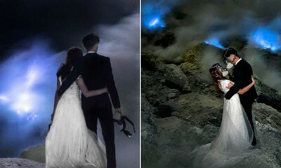 M'sian Photographer Shot These Amazing Wedding Photos at Volcano, Check em Out! - WORLD OF BUZZ