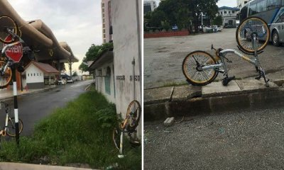 M'sians Outraged Over Photos of Shared Bicycles Badly Vandalised and Abused - WORLD OF BUZZ 7