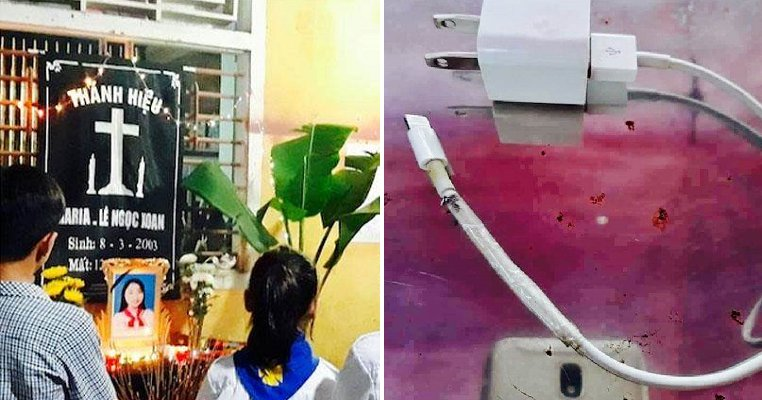 Young Girl Sleeps While Charging Phone on Bed, Gets Electrocuted to Death - WORLD OF BUZZ