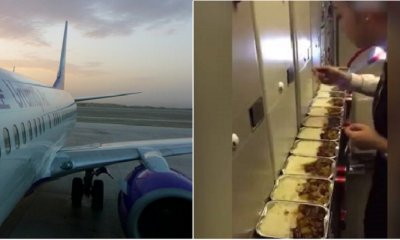Air Stewardess Caught on Camera Eating Passenger's Leftover Meal, Gets Suspended - WORLD OF BUZZ 4