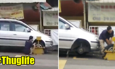 Man's Car Clamped in Cheras, Decided to 'Unclamp' it by Himself - WORLD OF BUZZ