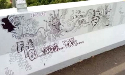 Six Days into Opening, the Rawang Bypass is Already Vandalised with Graffiti - WORLD OF BUZZ