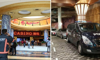 Ceiling Unexpectedly Collapses at Resorts World Sentosa, 4 Injured - WORLD OF BUZZ 4