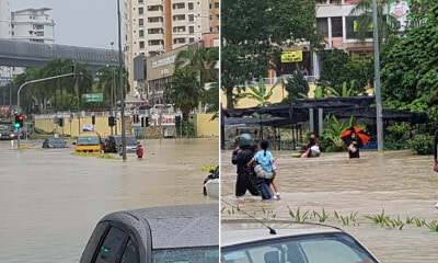 Inspiring Motorists Help Carry Scared School Children Trapped in Bus During PJ Flash Flood - WORLD OF BUZZ 6