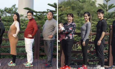 Man Shares Inspiring Story of How He Spent 6 Months Losing Weight with His Family - WORLD OF BUZZ