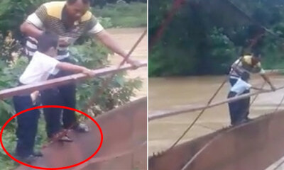"""My Son Was Eager to Go to School, But He Had to Brave Through This Bridge"" - WORLD OF BUZZ"