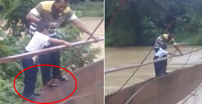 """""""my Son Was Eager To Go To School, But He Had To Brave Through This Bridge"""" - World Of Buzz"""