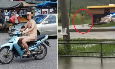 Naked Man Casually Riding Motorcycle in Teluk Intan Detained by Police - WORLD OF BUZZ 3