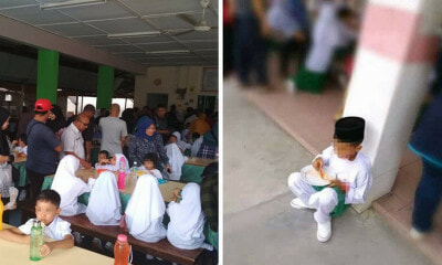 Netizen Criticises Parents For Taking Students' Seats at School Cafeteria During Recess - WORLD OF BUZZ 3