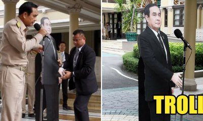 Put Your Hands Up For Thailand's PM For Replacing Himself With A Cutout Cardboard During A Media Session - WORLD OF BUZZ