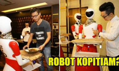 This Cool Kopitiam Has Robots as Waiters in Replacement of Humans - WORLD OF BUZZ 1