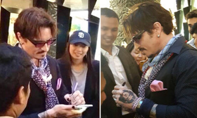 This Man Takes Photos and Gives Autographs at Mall, Turns Out He Isn't Johnny Depp - WORLD OF BUZZ