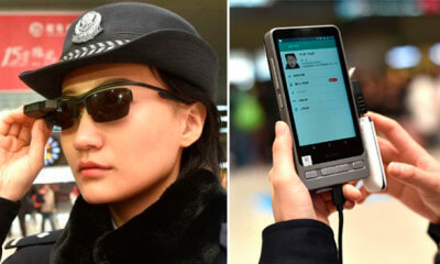 Chinese Policemen Now Wearing Facial Recognition Glasses to Catch Wanted Criminals - WORLD OF BUZZ