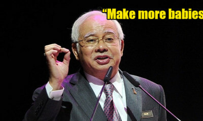 """Continue Giving Birth, Because We Need a Bigger Population,"" PM Najib Tells M'sians - WORLD OF BUZZ"