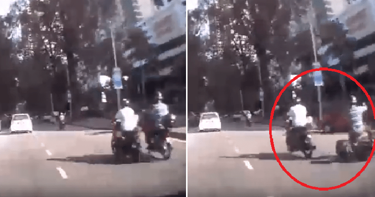 Elderly M'sian Suffers Injuries After Man Outrageously Kicked Him Off His Motorcycle - WORLD OF BUZZ 2