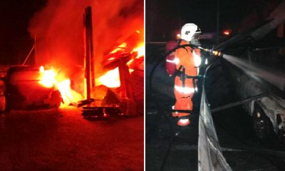 Five Vehicles in JPJ's Parking Lot Destroyed in Blaze Due to Suspected Arson Attack - WORLD OF BUZZ 6