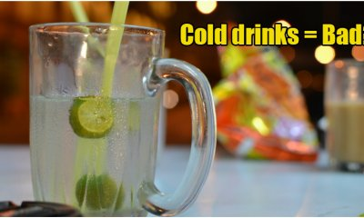 Is Drinking 'Ais Kosong' or Other Cold Drinks During Meals Actually Bad for You? - WORLD OF BUZZ 1