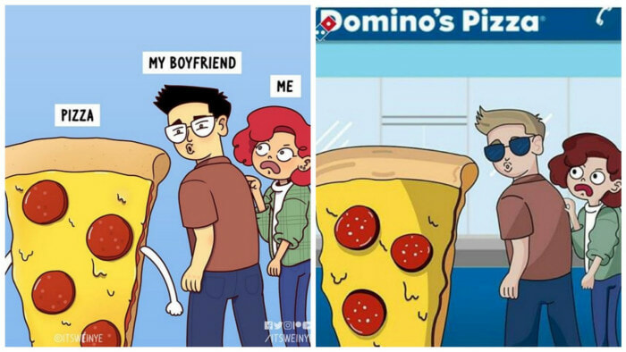 Malaysian Artist Calls Out Domino's Chile For Stealing Her Artwork - WORLD OF BUZZ 1
