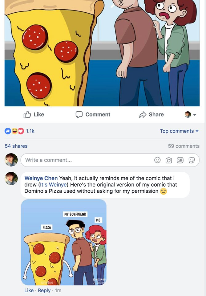 Malaysian Artist Calls Out Domino's Chile For Stealing Her Artwork - WORLD OF BUZZ 3