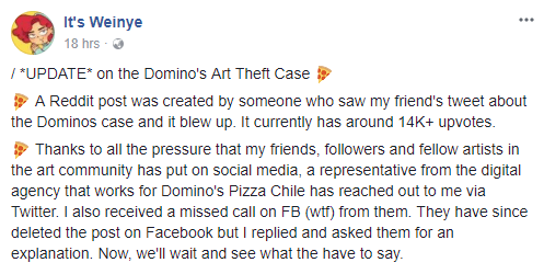 Malaysian Artist Calls Out Domino's Chile For Stealing Her Artwork - WORLD OF BUZZ 4