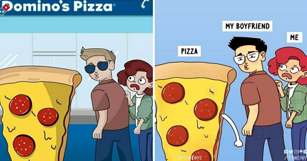 Malaysian Artist Calls Out Domino's Pizza Chile For Stealing Her Artwork - WORLD OF BUZZ