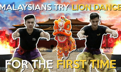 Malaysians Try Lion Dance for the First Time - WORLD OF BUZZ