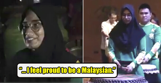 Meet Mariam, a Malay Girl Who Plays Drums in Lion Dance Troupe and Speaks Mandarin - WORLD OF BUZZ
