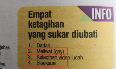 M'sian Newspaper Gets Backlash Again After Listing 'Gay' and 'Bisexual' as Addictions - WORLD OF BUZZ 5