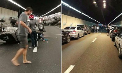 M'sians Praised for Showing Civic Consciousness During Terrible Accident at PLUS - WORLD OF BUZZ 3