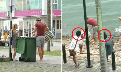 Tourists Spotted Picking Up Rubbish in Sandakan as M'sian Stood There and Watch - WORLD OF BUZZ