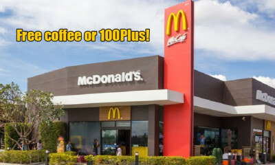 You Can Get Free Drinks at ALL McDonald's Drive-Thru From 13 to 15 February! - WORLD OF BUZZ