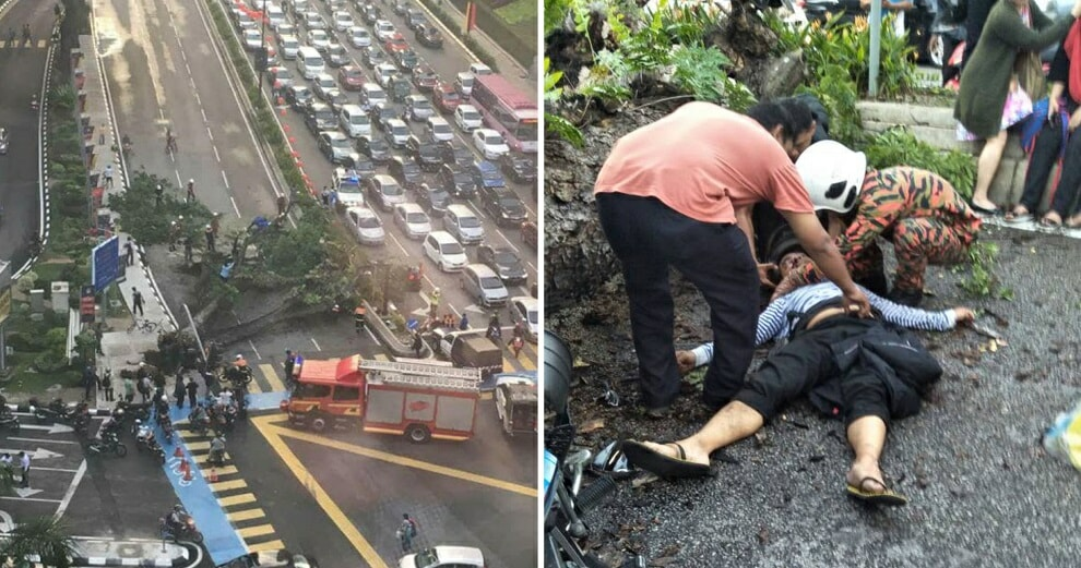 Couple Injured by Fallen Tree Near KLCC Just Got Married Yesterday - WORLD OF BUZZ 9