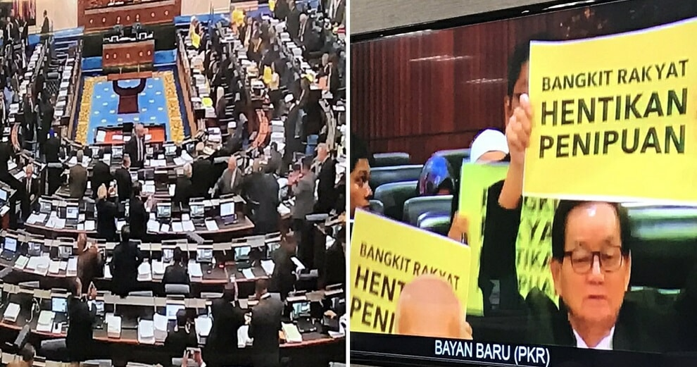 """Dewan Rakyat Officially Passes Redelineation Report, Opposition Chants """"Thieves"""" in Response - WORLD OF BUZZ 2"""
