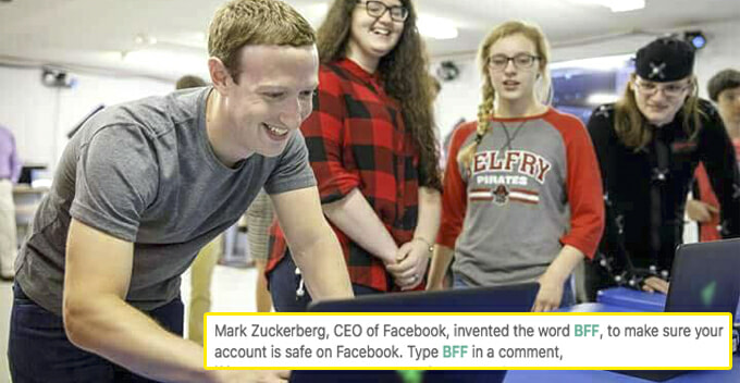 Does the Green BFF Comment Really Means Your FB Account is Safe from Hackers? - WORLD OF BUZZ
