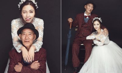 Filial Granddaughter Fulfills Grandpa's Wish of Seeing Her in Wedding Gown in Sweet Photoshoot - WORLD OF BUZZ 8