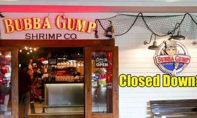 Bubba Gump Shrimp Co. Shuts Down Two Out of Three Restaurants in Malaysia - WORLD OF BUZZ