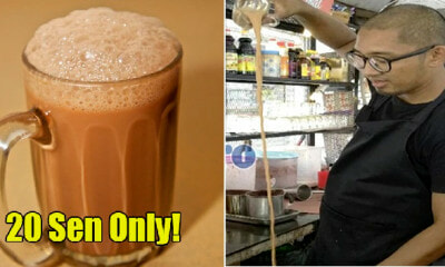 Locals Call Him 'Crazy Tauke' Because He Sells Teh Tarik at 20Cents Per Cup - WORLD OF BUZZ 1