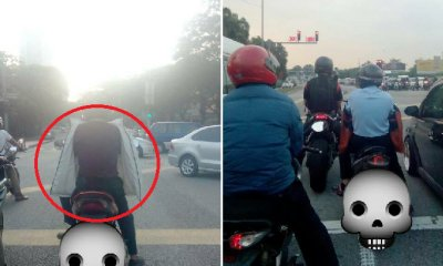 Malaysian Warns Motorcyclists About Dangers of Wearing a Jacket Backwards - WORLD OF BUZZ 4