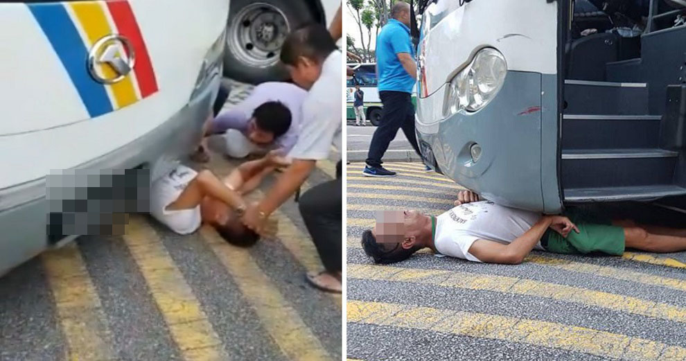 Man Gets Trapped Under Bus in Road Accident, Ends Up Getting Saved Thanks to 10 Passers-by - WORLD OF BUZZ 1