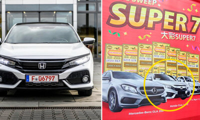 M'sian Man Listens to Wife and Bought 'Super 7' Tickets, Ends Up Winning a Honda Civic - WORLD OF BUZZ