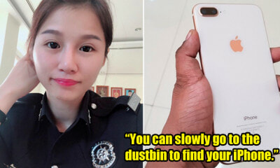 M'sian Policewoman Epically Trolls Rude Owner Who Accused Her of Stealing His iPhone - WORLD OF BUZZ